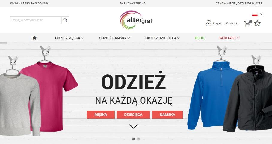 Sklep internetowy b2b z odzieżą reklamową