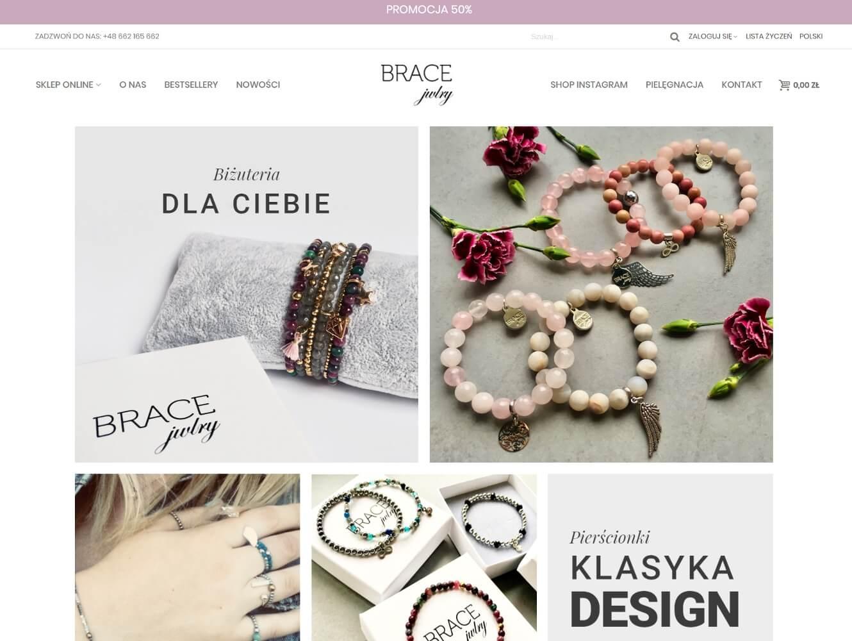 Sklep internetowyz biżuterią Bracejwlry