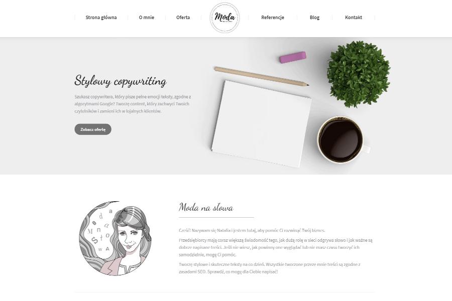 Strona internetowa dla copywritera