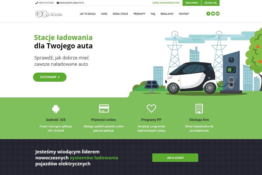 strona internetowa stacje ładowania go+eauto