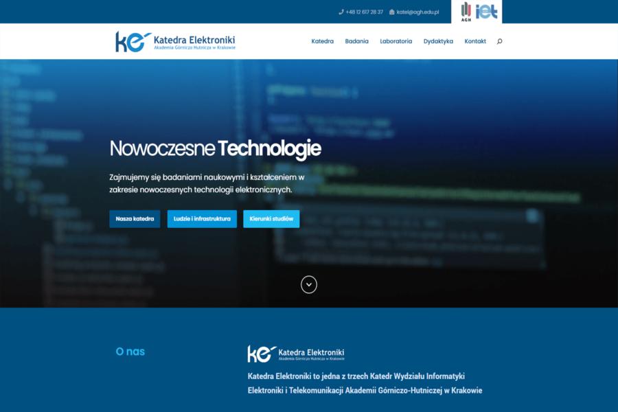 Strona internetowa AGH Katedra Elektroniki